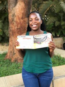 Das Sandwurm Prinzip ist in Kampala, Uganda - Afrika